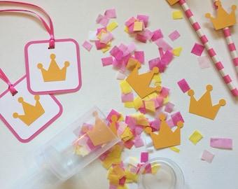 Princess Crown Tag  - Princess Birthday Tags - Princess and the Frog Party - Princess Favor Tags - Pink and Gold Party - Princess Party Tag