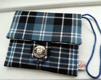 Tartan Clutch Bag | Clark Tartan Bag | Ladies Evening Bag | Gift for her | Party Bag | Made in Glasgow Scotland | Striped Lining | Gorgeous