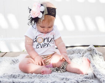 Baby Girl Bodysuit/ Oh Donut Even/ Bodysuit for Baby Girl/ Baby Shirt/ Baby Shower Gift/ Baby Girl Set/ Baby Girl Clothes/ Baby Outfit