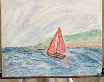 Sunny Sailing - Watercolor Sailboat Painting