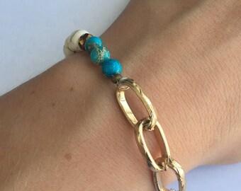 Earthen I Stretch Beaded Bracelet