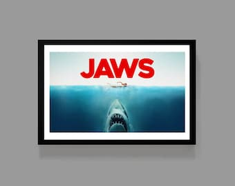 Jaws - Movie Poster Print - Martin Brody Steven Spielberg Cult Classic Film