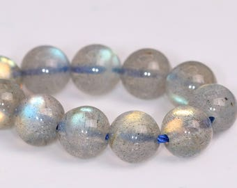 "5MM Gray Labradorite Beads Grade AAA Genuine Natural Gemstone Half Strand Round Loose Beads 7.5"" BULK LOT 1,3,5,10 and 50 (102178h-504)"