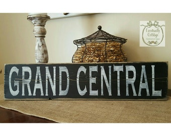 Handpainted Grand Central sign