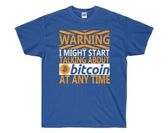 Bitcoin Cryptocurrency Novelty TShirt