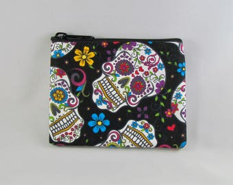Calavera Coin Purse - Coin Bag - Pouch - Accessory - Gift Card Holder