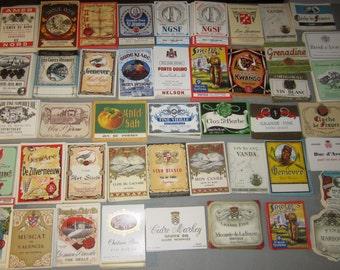 80 Old 1930's++++++ European WINE & LIQUOR LABELS.