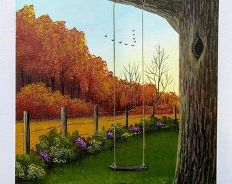 Tree Swing in the Fall