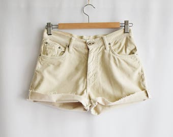 Shorts Vintage Beige Velvet