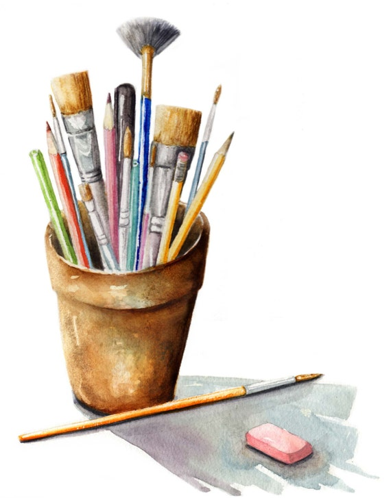 Watercolor art supplies painting paint brushes art tools for Homedepot colorsmartbybehr com paintstore