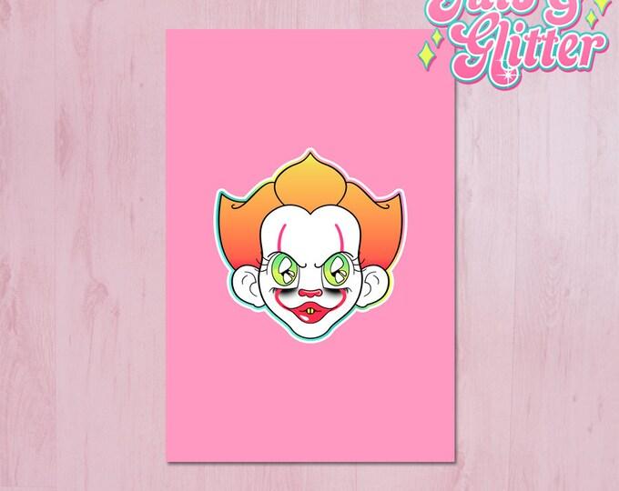 Clown, Creepy Cute Mini Print