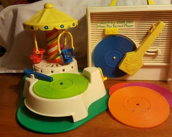 Vintage Fisher Price record players make lack a little in terms of high fidelity sound quality, but more than compensates with nostalgia