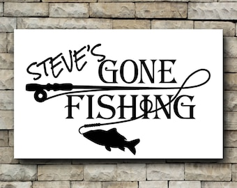 Gone Fishing vinyl decal/Personalized decal/car decal/fish/personalize