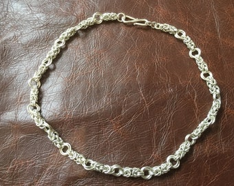 Sterling silver 'Chainmail' necklace - 42cm