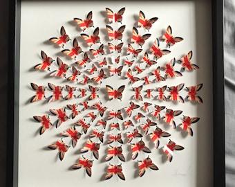 United Kingdom - Butterfly Art - 3D