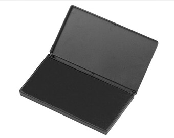 LARGE Ink Pad | Choose Black Blue or Red | 4-1/4 in. by 7-3/8 in. Large Stamp Pad for Creatiate Rubber Art Stamps and Hand Stamps