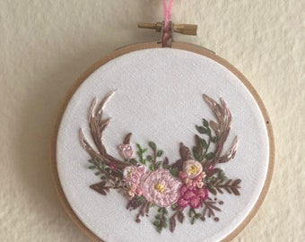4inch embroidered hoop