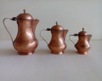 Vintage Copper Jug. Vintage Copper Iua. Jug 3 pieces. Gabriel Copper. Copper Jug. Copper jug