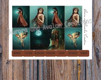 Night Fairy..Weekly Kit for Erin Condren, Happy Planner and Erin Condren Horizontal