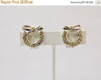 ON SALE Vintage Rhinestone Earrings Item K # 2723