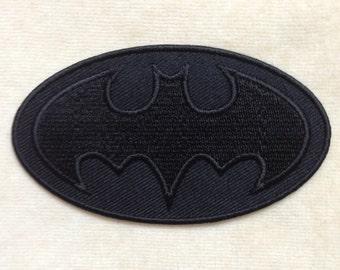 Batman Super Hero Iron On Patch #Black