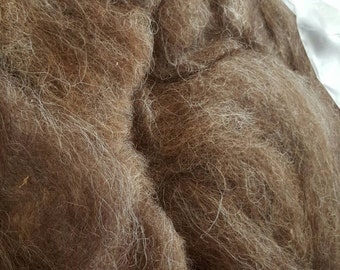 Navajo churro wool roving brown