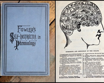 Fowler's Phrenology Book Illustrated Self Instructor Hardcover