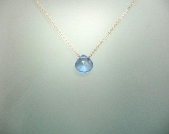 Blue Hydrothermal Quartz briolette drop