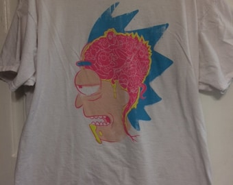 Rick And Morty T-shirt with Rick's Brain!!!! Size 2XL