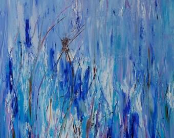 Blue Oil Painting, Contemporary Oil Painting, Original Oil Painting, Blue oil painting, Modern Art, modern Ukrainian art