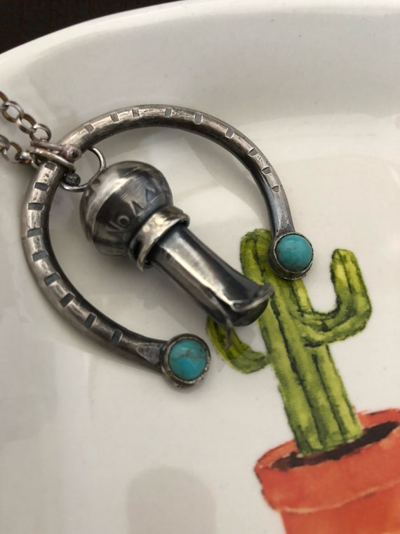 Handmade, Southwestern, One of Kind, OOAK, Sterling Silver, Naja Pendant, Turquoise Jewelry, Squash Blossom, Kingman Turquoise