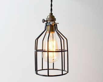 FREE SHIPPING!  The Racketeer - Industrial Cage Pendant Light
