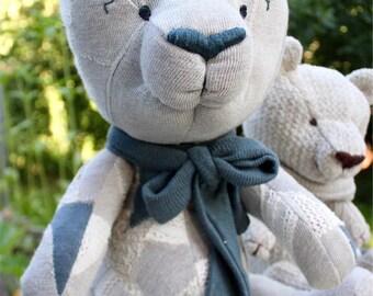 Hemp Teddy-Bear, Organic Toys, Handmade, 100% Hemp