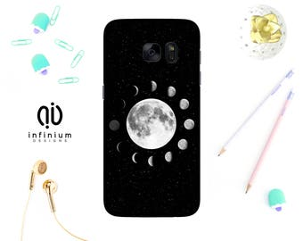 Lunar Moon Phases Case For Samsung S9, iPhone 8, 8 Plus, iPhone 7, iPhone 6S, 5S, Samsung S9 Plus, Samsung S8, S8 Plus, Samsung J5 & Note 8