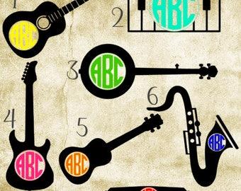 Monogrammed Instrument Decal