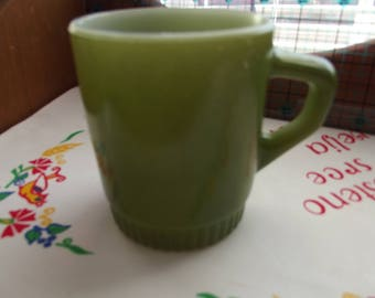Anchor Hocking Fire King Avocado Green Mug - Vintage - Perfect Condition