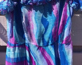 Indigo 70's Festival Maxi Dress