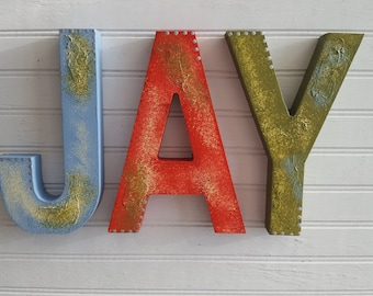 Boy Name Letters - Girl Name Letters - Rustic Wall Letters - Nursery Letters - Vintage Kids Room