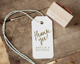 Personalized Thank You! Rubber Stamp