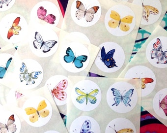 Watercolour butterfly stickers, Stickers watercolour butterfly, Butterfly watercolour stickers, Stickers butterfly watercolour,  x 32 #1006