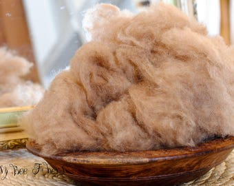 CAMEL DOWN Wool 19 micron soft dehaired cloud luxury fiber for spinning, felting, carding, rolags, blending, dyeing, needle felting - 1 oz