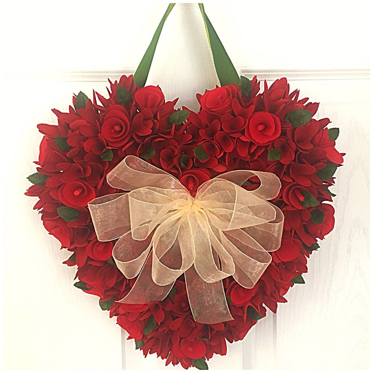 gallery photo gallery photo gallery photo gallery photo ...  sc 1 st  Carole with an E Crafts & Red Heart. Door Heart Wreath. Wood Curl Wreath. Natural Roses Wreath ...