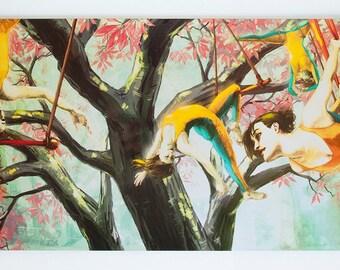 """Trapeze Tree Digital Print 10"""" x 20"""""""