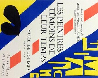 """Matisse 44 """"Les peintures temoins de leur temps""""  1959 Mourlot Art in posters"""