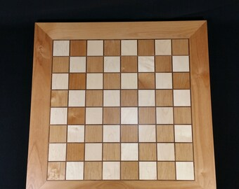 "Heirloom, Handmade, Hardwood Chess Board ""Cinnamon"""