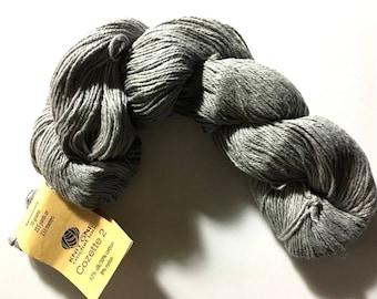 Knit One Crochet Too Cozette 2 #951 Pewter Grey Fine Silk Cotton Nylon Yarn 50 gram, 255 yards, Sport / 2 Fine