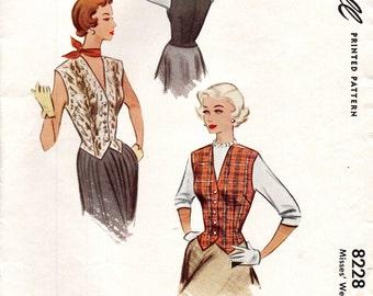 McCall 8228 WESKIT VEST VINTAGE 1950