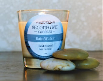 Rain Water Scented 5oz Glass Container Candle