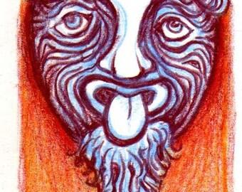 Tree Spirit ACEO - Small Original Art