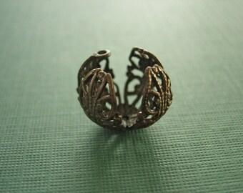 Vintaj Messing filigran Perlen, 35mm, filigrane Einstellung, eine Perle, 14mm, Messing Perlen